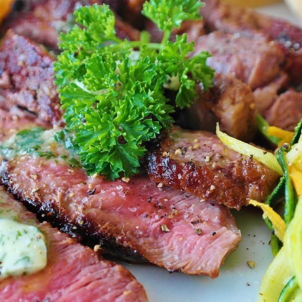 steak, meat, beef